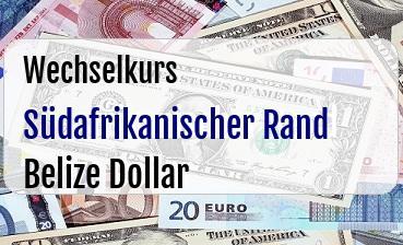 Südafrikanischer Rand in Belize Dollar