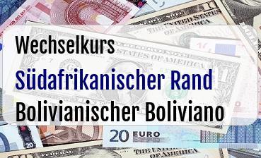 Südafrikanischer Rand in Bolivianischer Boliviano