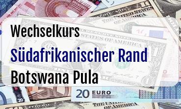 Südafrikanischer Rand in Botswana Pula