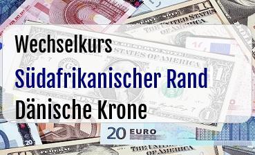 Südafrikanischer Rand in Dänische Krone
