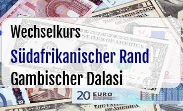 Südafrikanischer Rand in Gambischer Dalasi