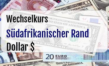 Südafrikanischer Rand in US Dollar