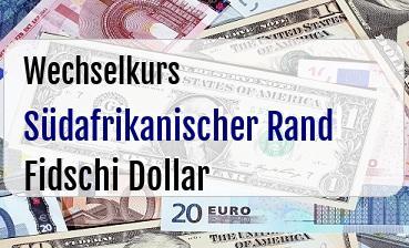 Südafrikanischer Rand in Fidschi Dollar