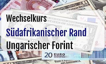 Südafrikanischer Rand in Ungarischer Forint