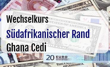 Südafrikanischer Rand in Ghana Cedi