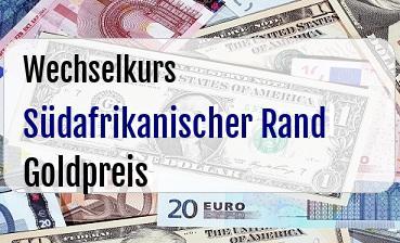 Südafrikanischer Rand in Goldpreis