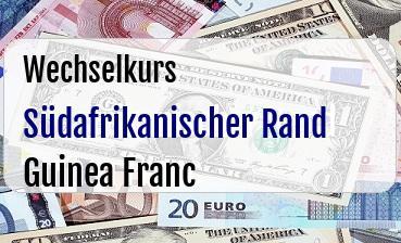 Südafrikanischer Rand in Guinea Franc