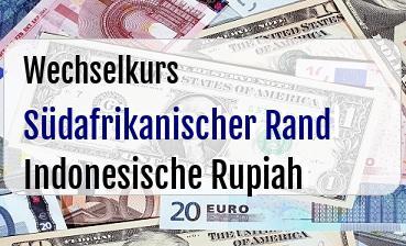 Südafrikanischer Rand in Indonesische Rupiah