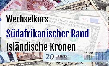 Südafrikanischer Rand in Isländische Kronen