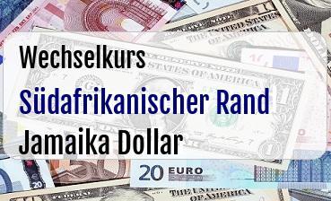 Südafrikanischer Rand in Jamaika Dollar