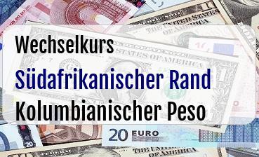 Südafrikanischer Rand in Kolumbianischer Peso