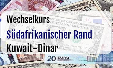 Südafrikanischer Rand in Kuwait-Dinar