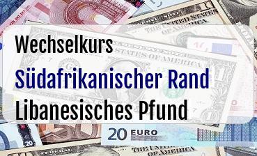 Südafrikanischer Rand in Libanesisches Pfund