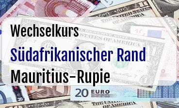 Südafrikanischer Rand in Mauritius-Rupie