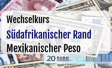 Südafrikanischer Rand in Mexikanischer Peso