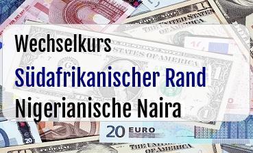 Südafrikanischer Rand in Nigerianische Naira