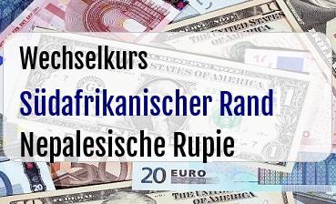 Südafrikanischer Rand in Nepalesische Rupie