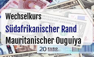 Südafrikanischer Rand in Mauritanischer Ouguiya