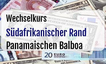 Südafrikanischer Rand in Panamaischen Balboa