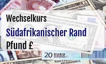 Südafrikanischer Rand in Britische Pfund