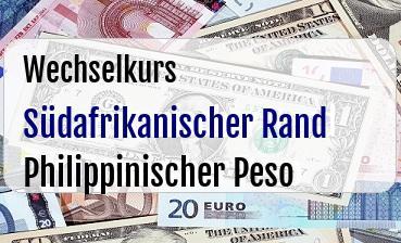 Südafrikanischer Rand in Philippinischer Peso
