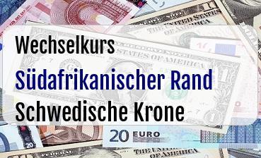 Südafrikanischer Rand in Schwedische Krone