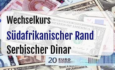 Südafrikanischer Rand in Serbischer Dinar