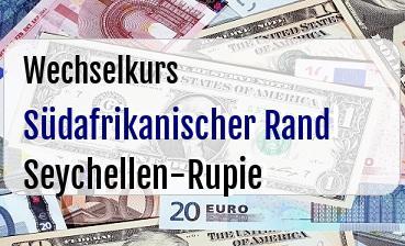 Südafrikanischer Rand in Seychellen-Rupie