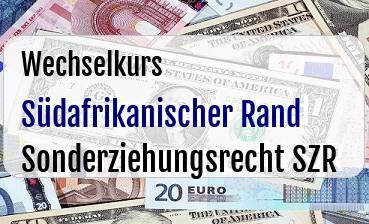 Südafrikanischer Rand in Sonderziehungsrecht SZR