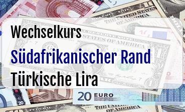 Südafrikanischer Rand in Türkische Lira