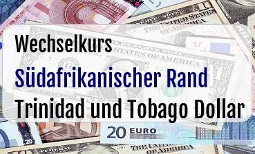 Südafrikanischer Rand in Trinidad und Tobago Dollar