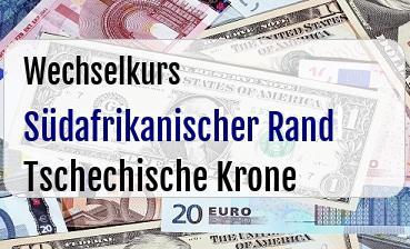 Südafrikanischer Rand in Tschechische Krone