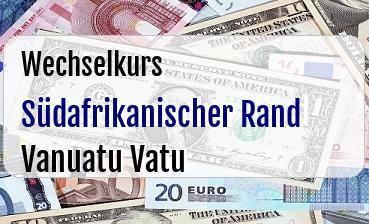 Südafrikanischer Rand in Vanuatu Vatu