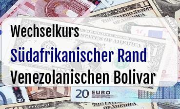 Südafrikanischer Rand in Venezolanischen Bolivar