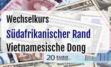 Südafrikanischer Rand in Vietnamesische Dong