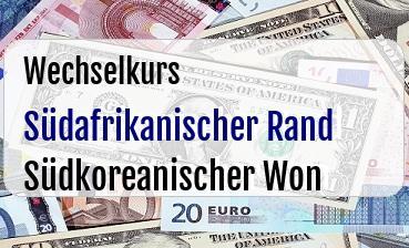 Südafrikanischer Rand in Südkoreanischer Won