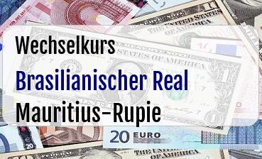 Brasilianischer Real  in Mauritius-Rupie