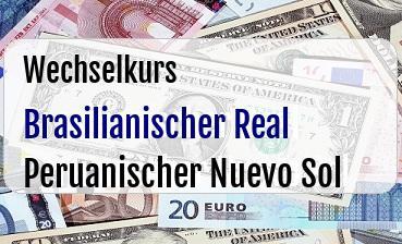 Brasilianischer Real  in Peruanischer Nuevo Sol