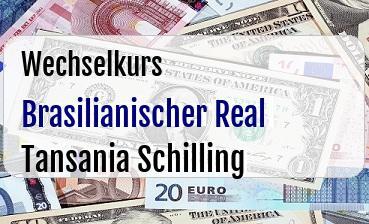 Brasilianischer Real  in Tansania Schilling