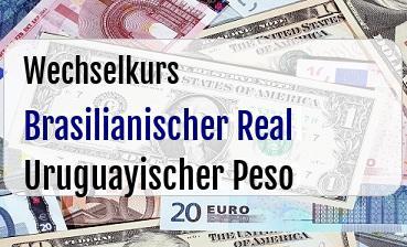 Brasilianischer Real  in Uruguayischer Peso