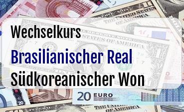 Brasilianischer Real  in Südkoreanischer Won