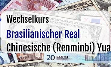 Brasilianischer Real  in Chinesische (Renminbi) Yuan