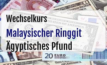 Malaysischer Ringgit in Ägyptisches Pfund
