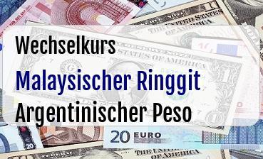 Malaysischer Ringgit in Argentinischer Peso