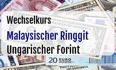 Malaysischer Ringgit in Ungarischer Forint