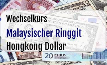 Malaysischer Ringgit in Hongkong Dollar