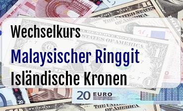 Malaysischer Ringgit in Isländische Kronen