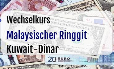 Malaysischer Ringgit in Kuwait-Dinar