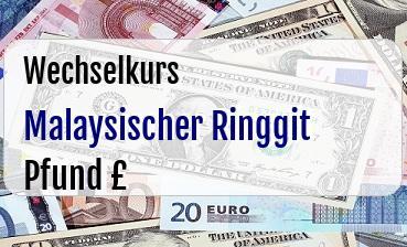 Malaysischer Ringgit in Britische Pfund
