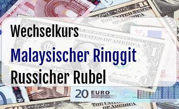 Malaysischer Ringgit in Russicher Rubel